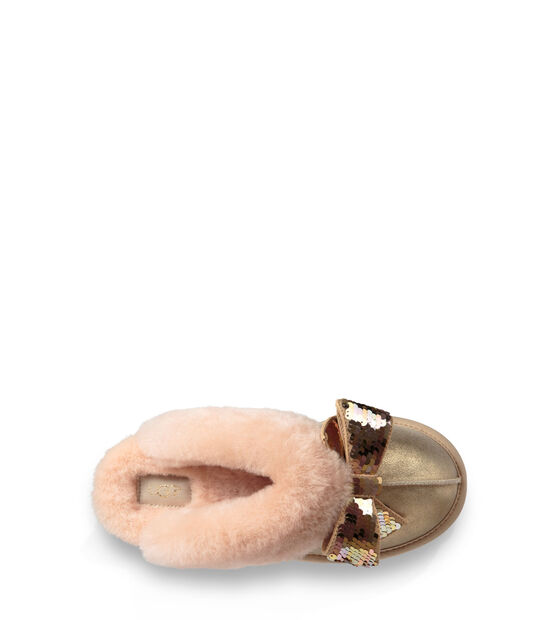 Coquette Sequin Bow Slipper