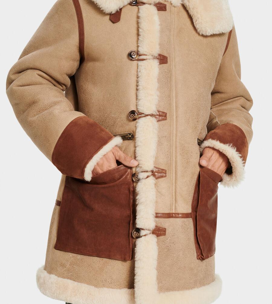 Yates Shearling Hooded Coat - Image 3 of 6