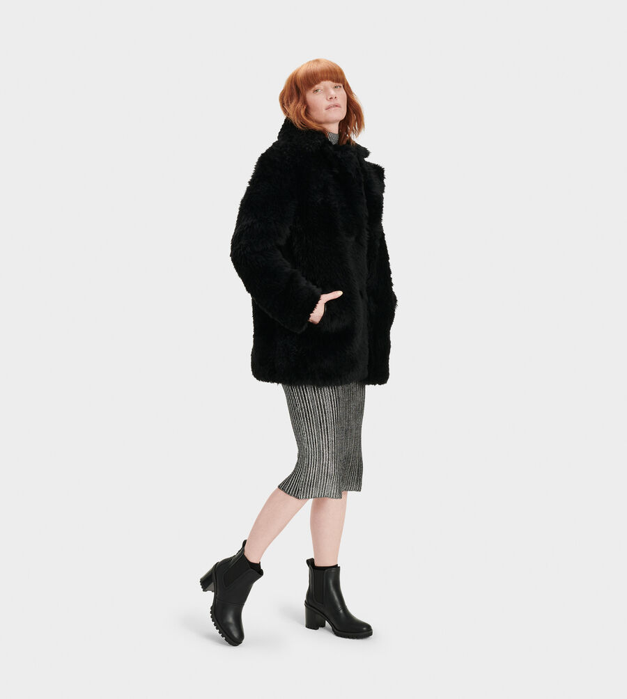 Lianna Short Shearling Coat - Image 4 of 4