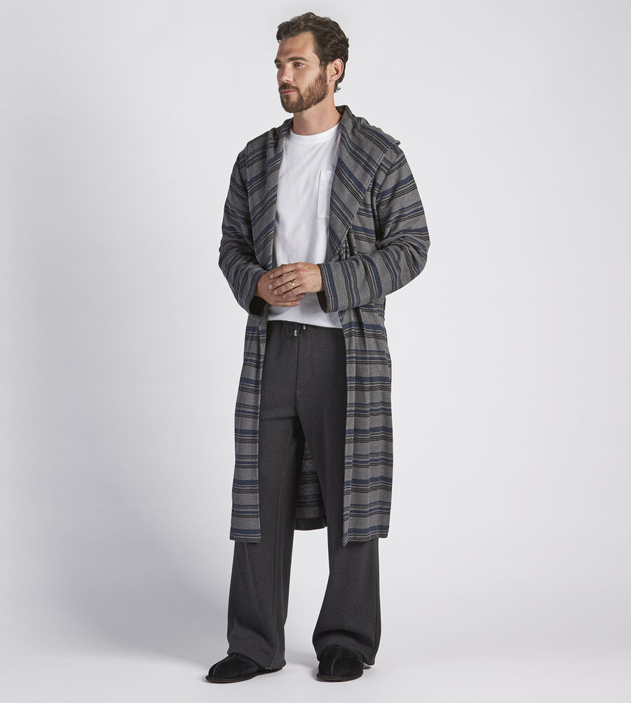 Miles Stripe Robe - Image 3 of 4