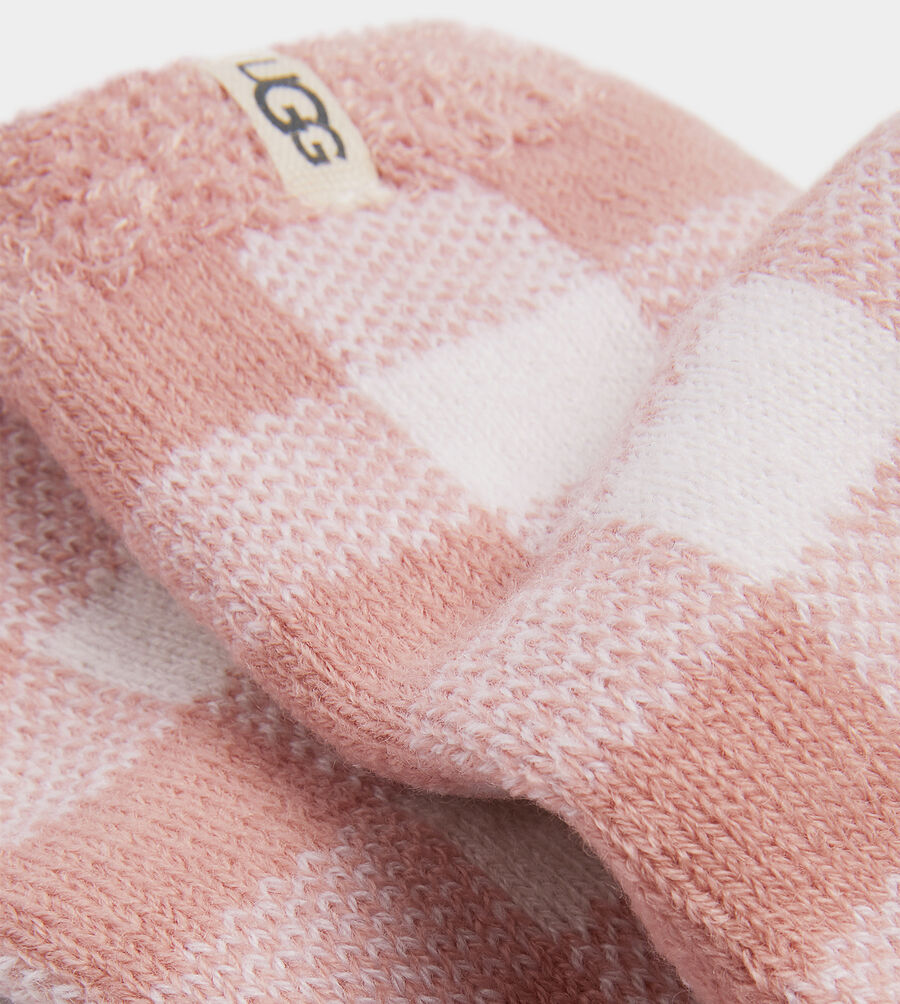 Vanna Check Fleece Lined Sock - Image 2 of 2