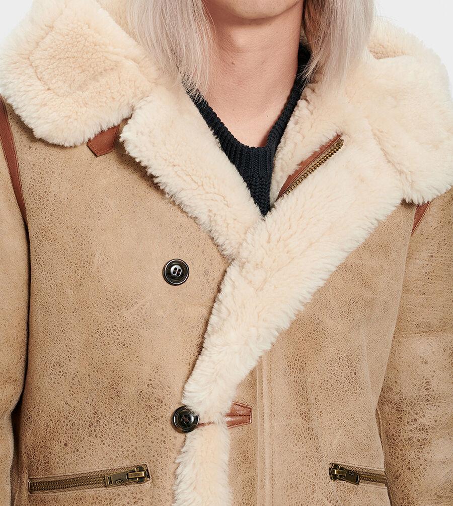 Yates Shearling Hooded Coat - Image 4 of 6