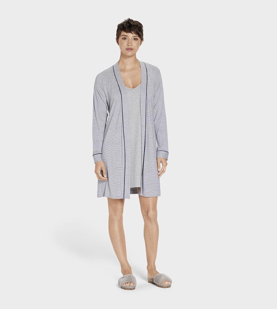 Aldridge Mini Stripe Robe - Image 1 of 5