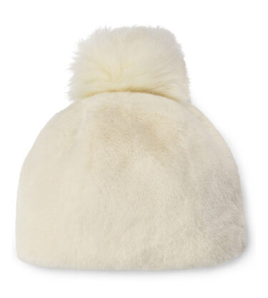 Faux Fur Beanie with Pom