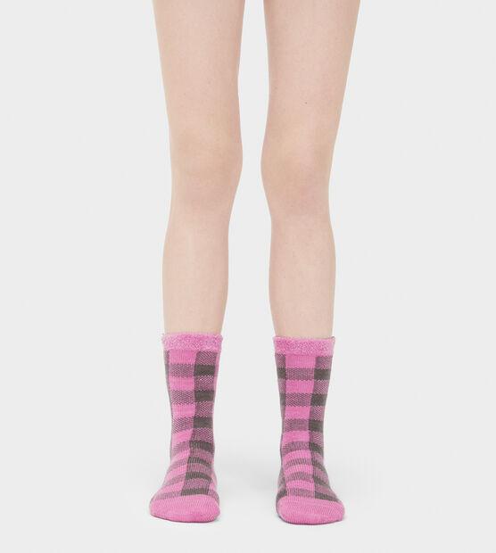 Vanna Check Fleece-Lined Sock