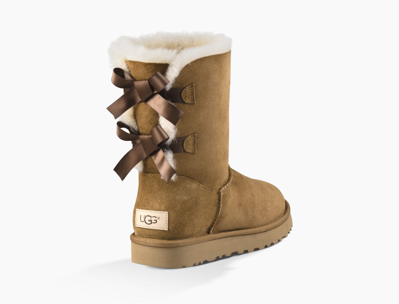 Newest UGG Australia Bailey Bow W Grey Womens Ankle Boots Outlet UK1631