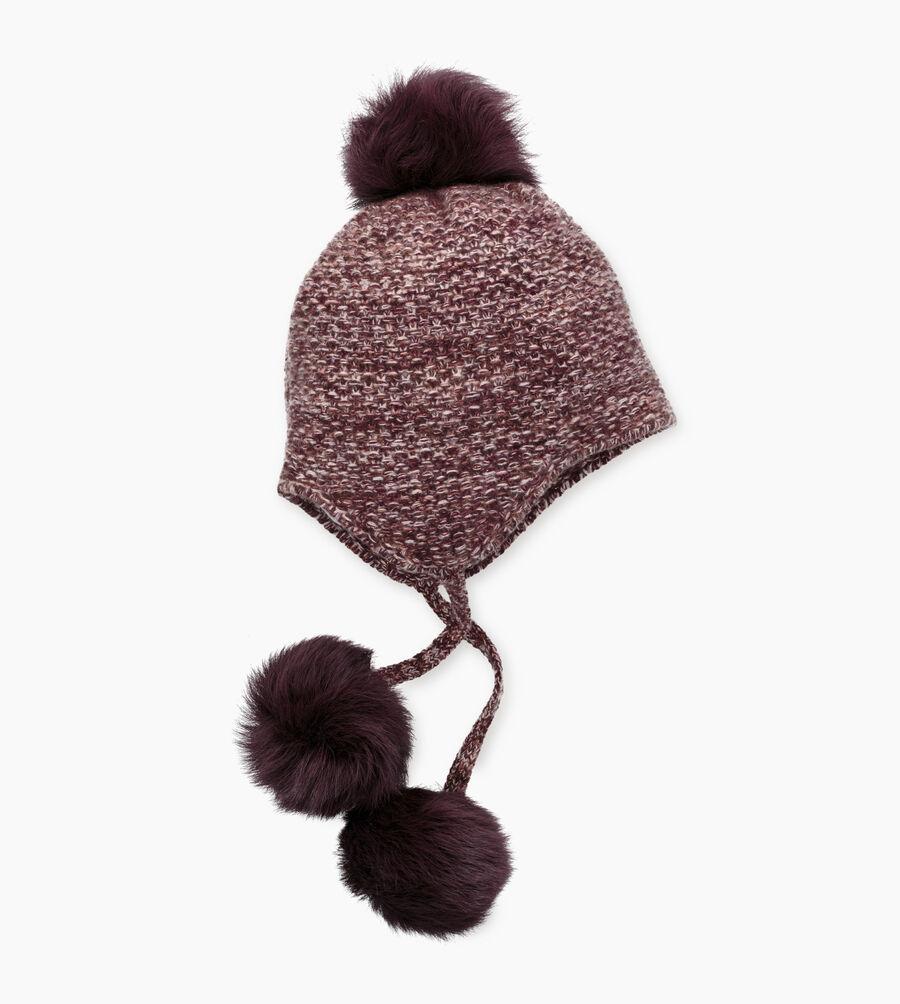 Tri-Pom Cashmere Hat - Image 1 of 2