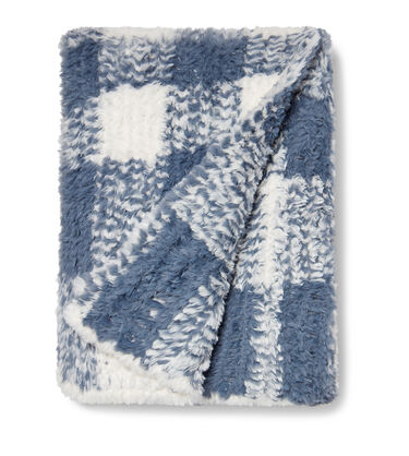 Natalie Plush Plaid Throw