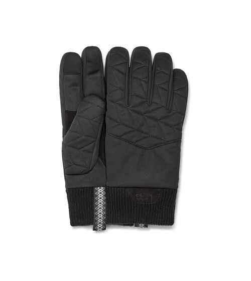 UGG Men's Quilted Nylon Glove, Size S/M Made from durable nylon, this cozy quilted glove features a ribbed cuff made from our cozy wool blend to help keep the heat in. Pair with puffer coats and knit caps. UGG Men's Quilted Nylon Glove, Size S/M