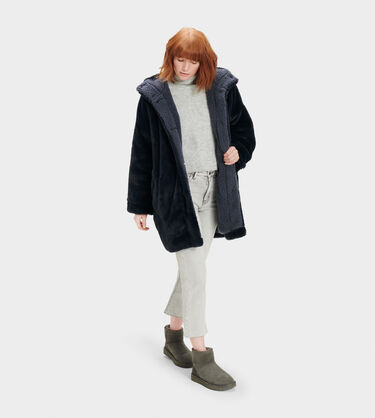 Nori Oversized Coat- Faux Fur