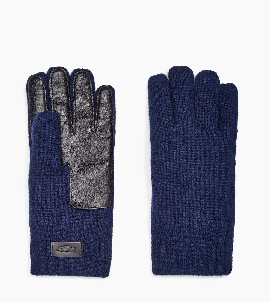 Knit Glove Leather Palm - Image 2 of 3