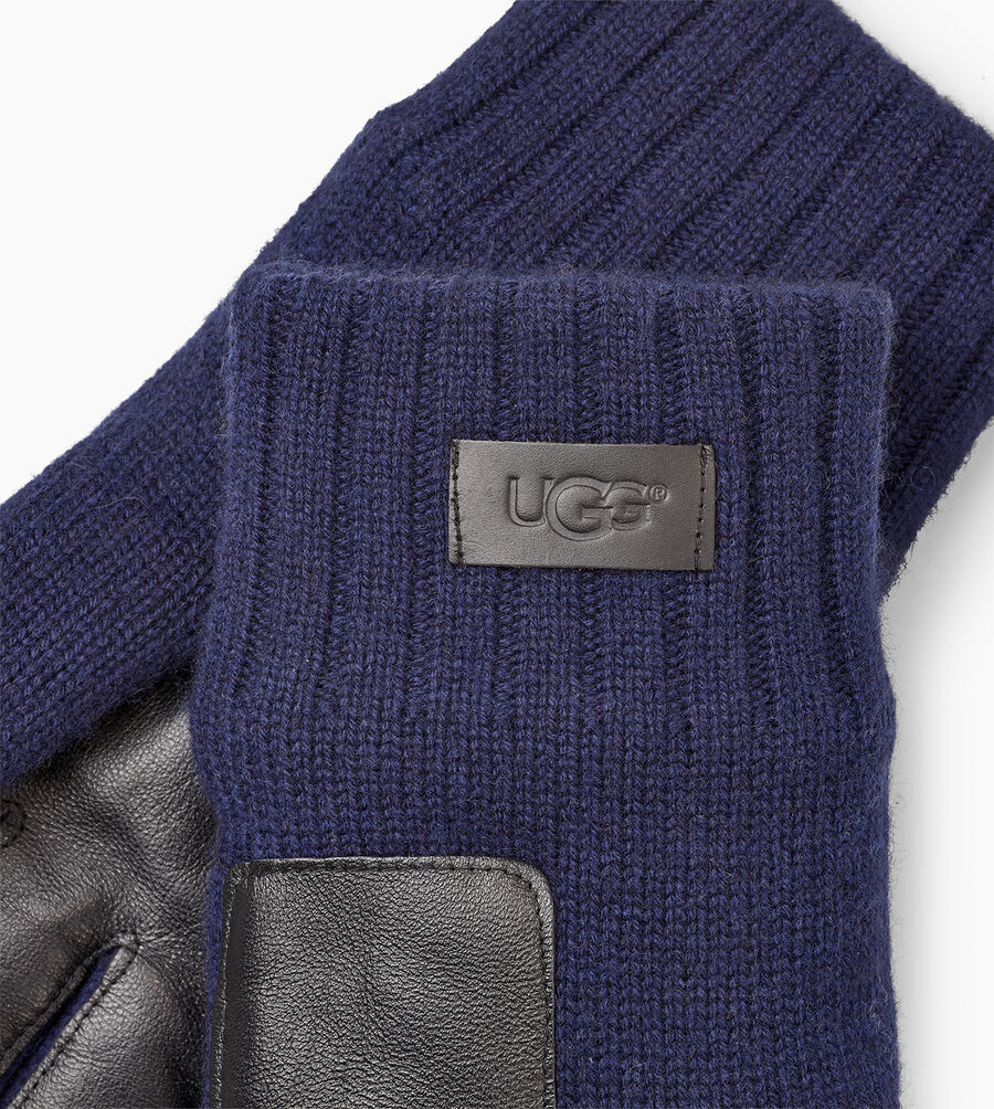 Knit Glove Leather Palm - Image 3 of 3
