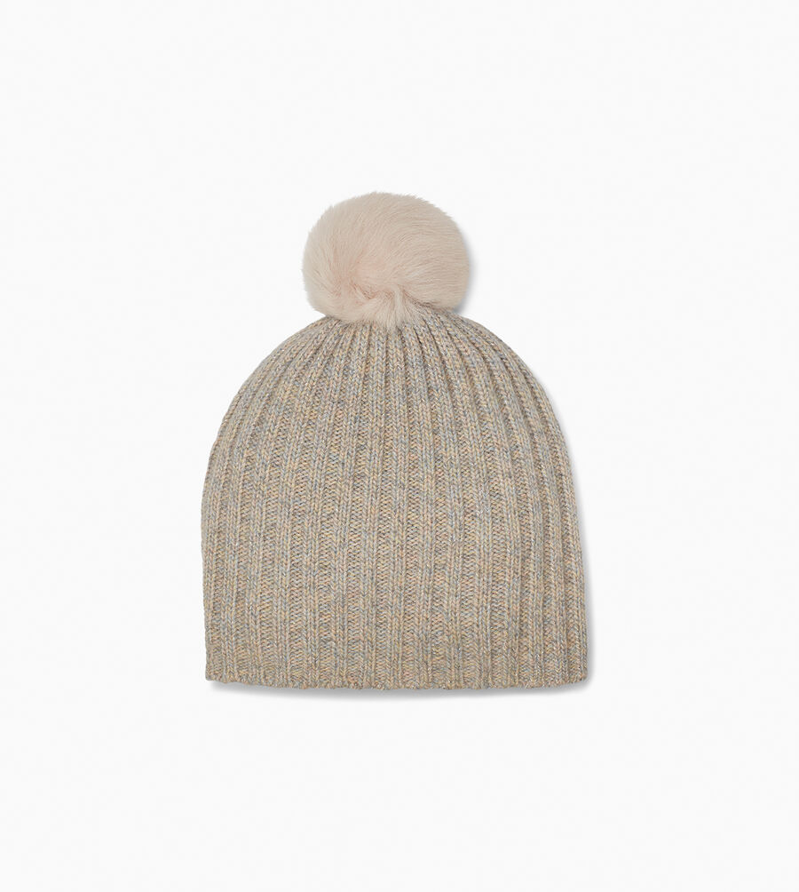Pippa Rib Knit Pom Hat - Image 1 of 2
