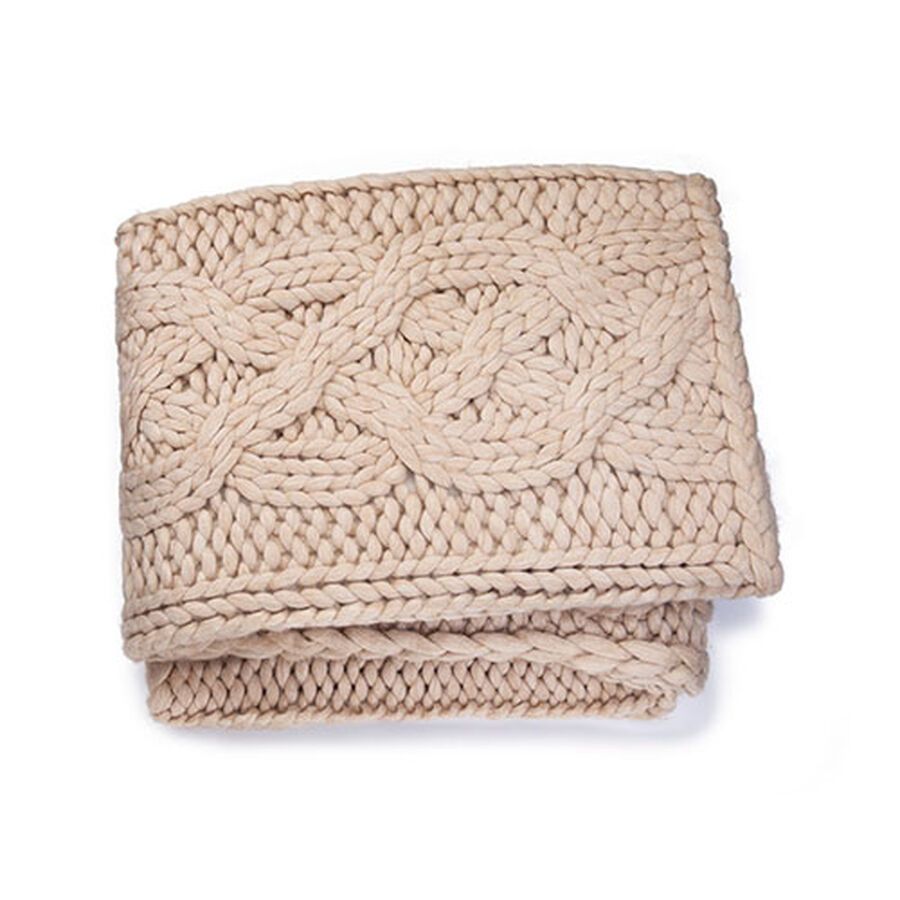 "Oversized Knit Blanket-50x70"" - Image 1 of 3"