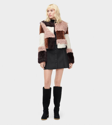 Hal Patchwork Short Fur Jacket Alternative View
