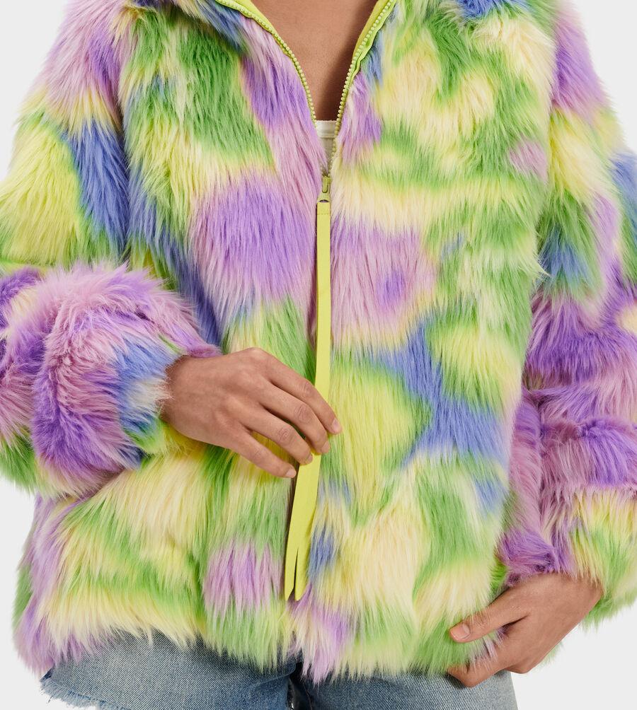 Clove Faux Fur Tie Dye Jacket - Image 4 of 4