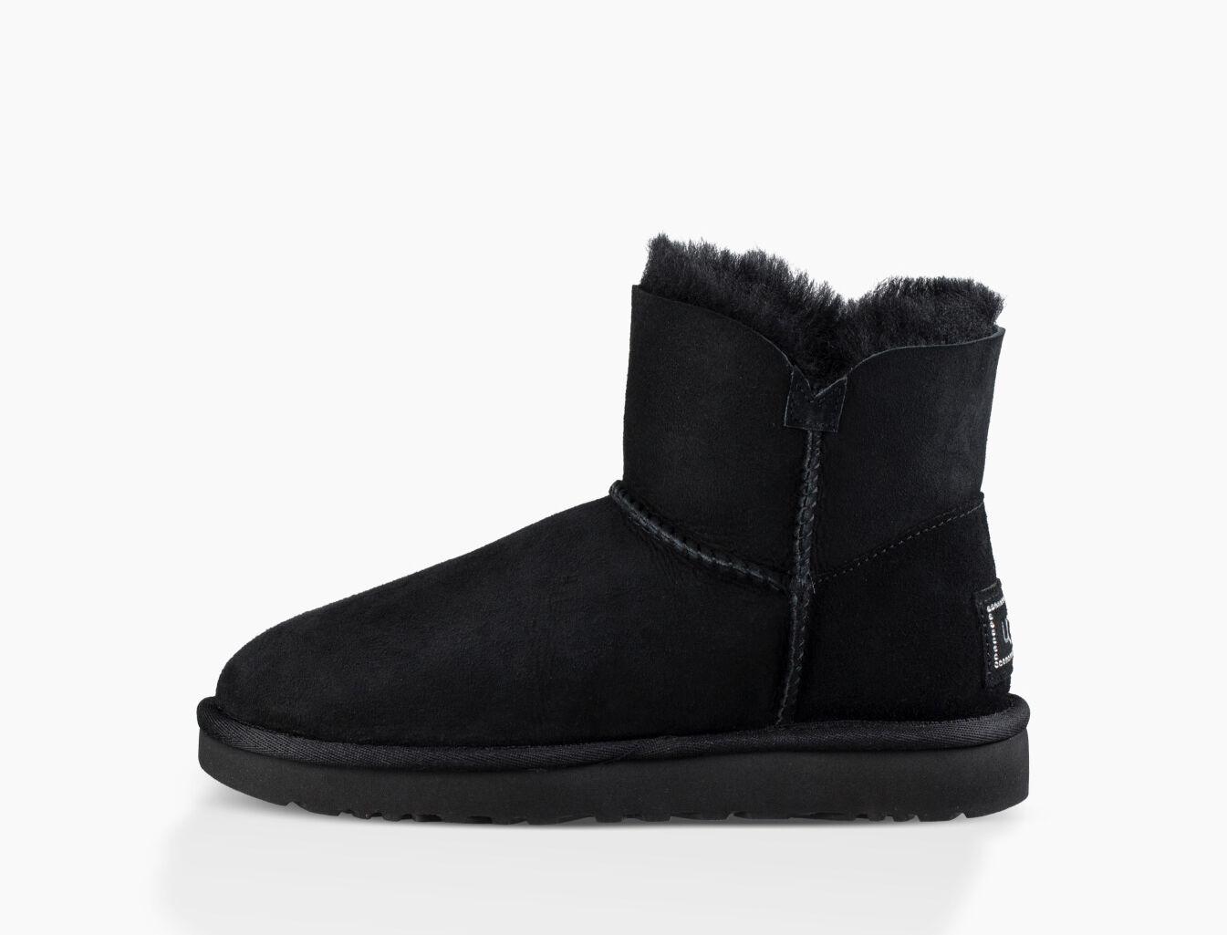 black mini ugg boots