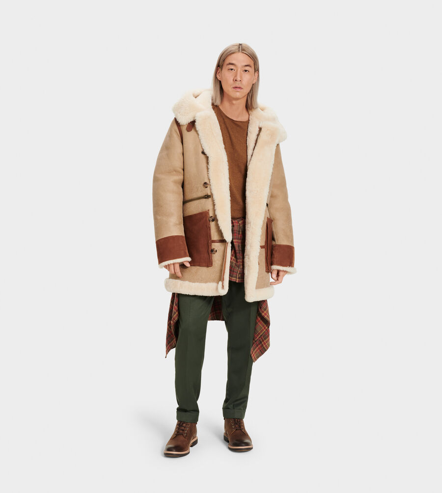 Yates Shearling Hooded Coat - Image 4 of 6