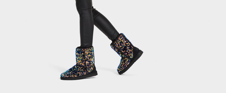 Classic Short Stellar Sequin Boot   UGG®