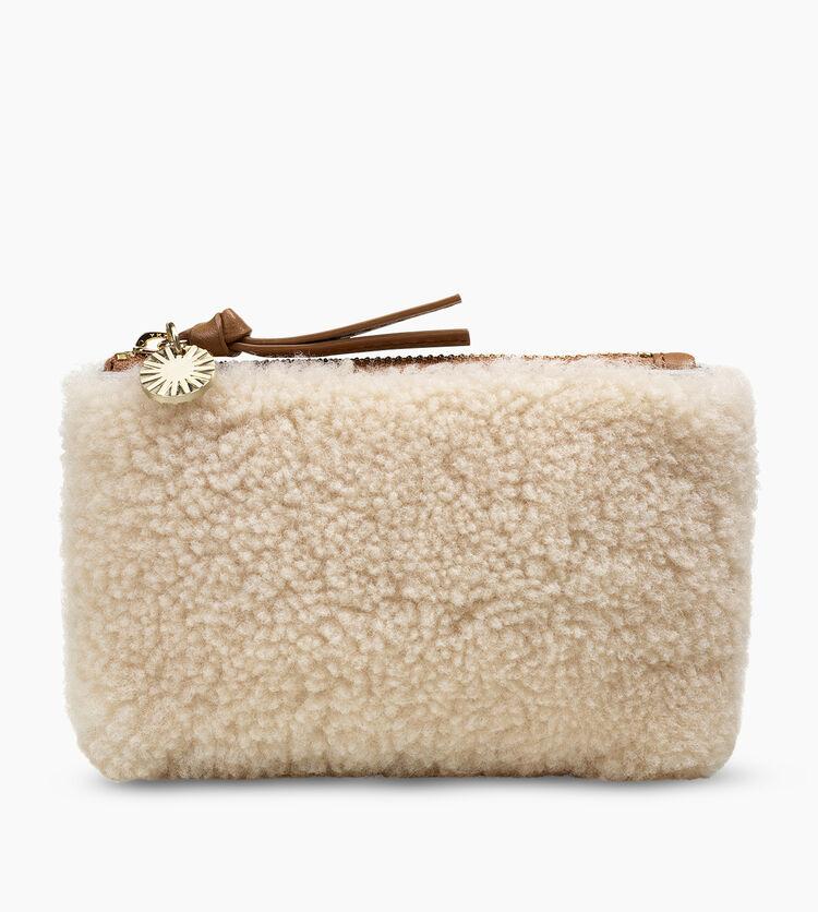 Sheepskin Small Zip Pouch