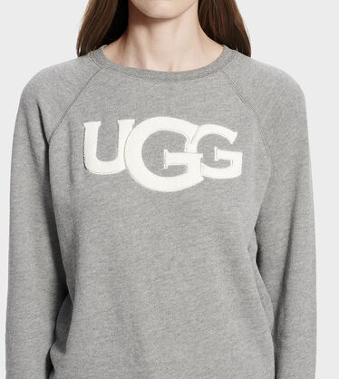 Fuzzy Logo Crewneck Sweatshirt Alternative View