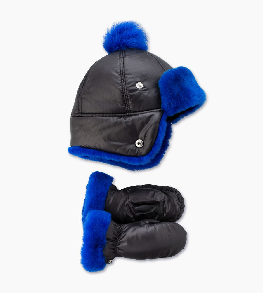 Fabric Pom Hat and Mitten Boxed Set - Image 1 of 1