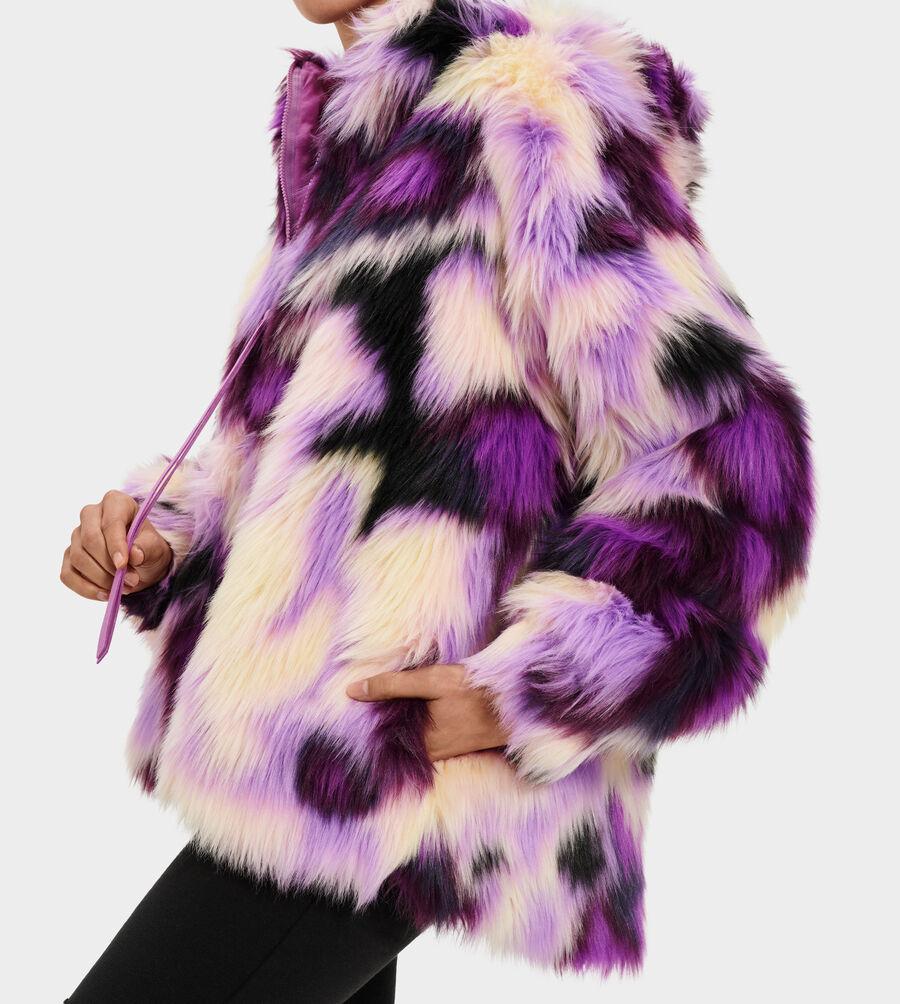 Clove Faux Fur Tie Dye Jacket - Image 4 of 5
