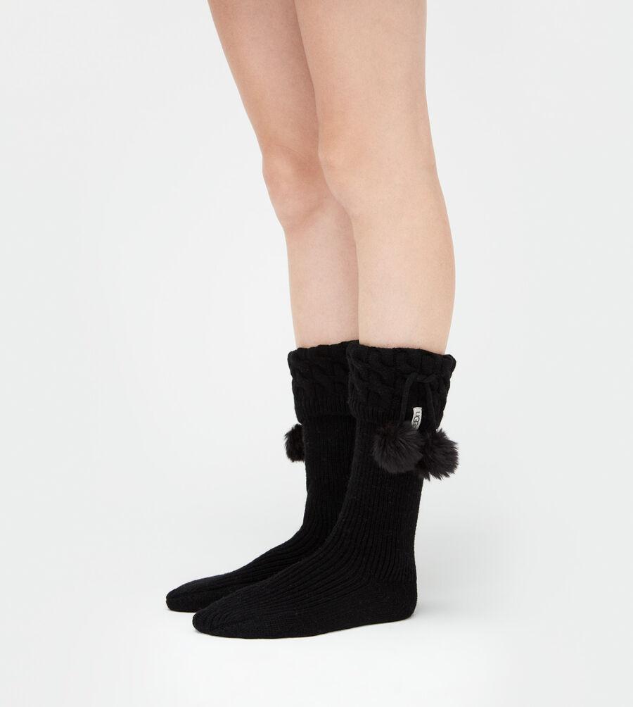 Pom Pom Tall Rainboot Sock - Image 1 of 4