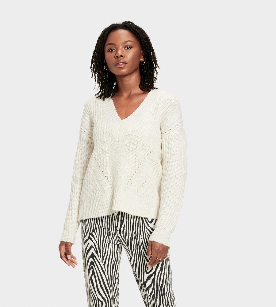 Alva Deep V-Neck Sweater - Image 1 of 6