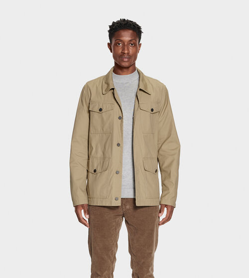 UGG Men's Silas Chore Coat Cotton Blend In Brown, Size XS The perfect spring coat, the Silas is made for chilly nights. Wear over any warm-weather look - from shorts and tanks to jeans and tees. UGG Men's Silas Chore Coat Cotton Blend In Brown, Size XS
