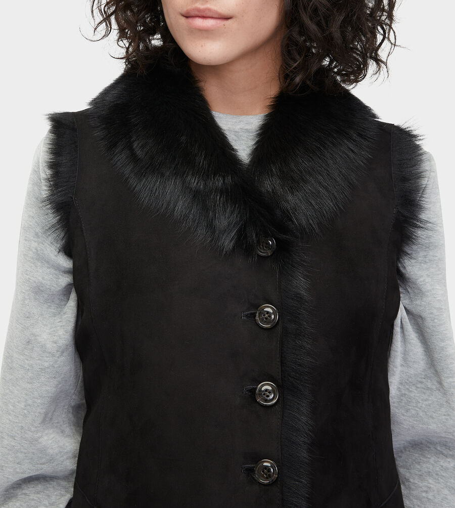 Renee Toscana Shearling Vest  - Image 2 of 5