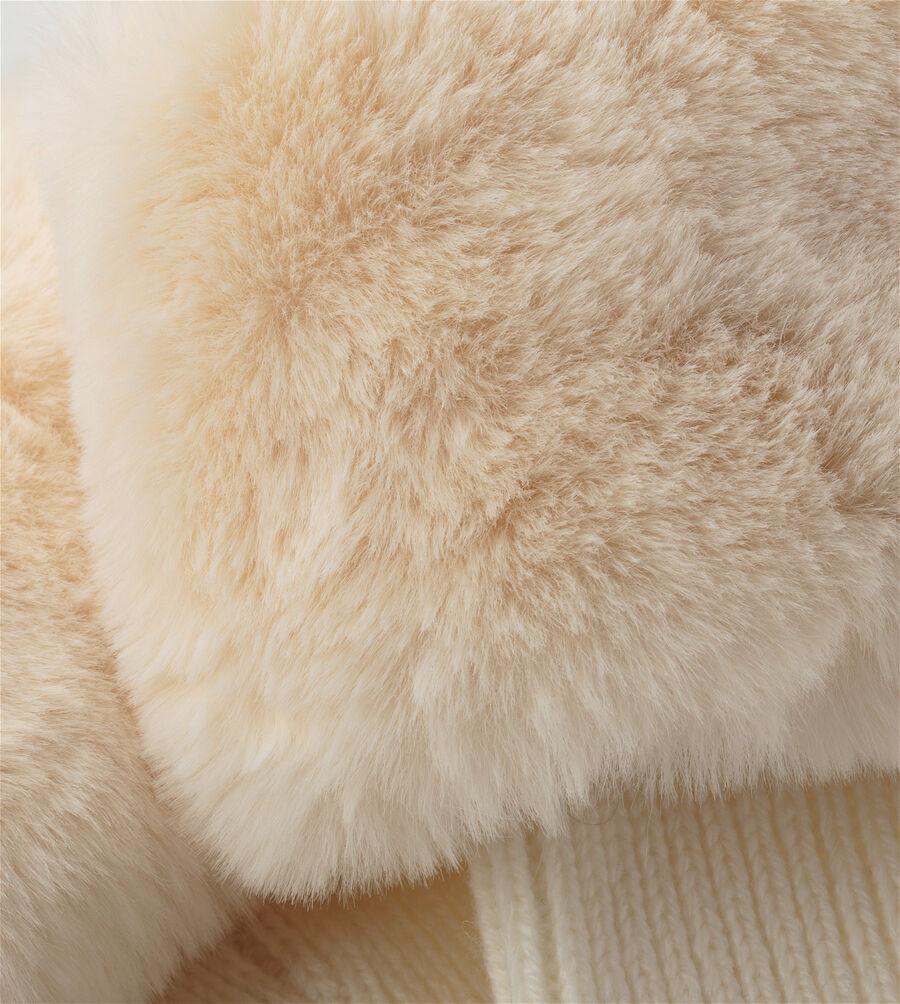 Faux Fur Tall Rainboot Sock  - Image 3 of 3