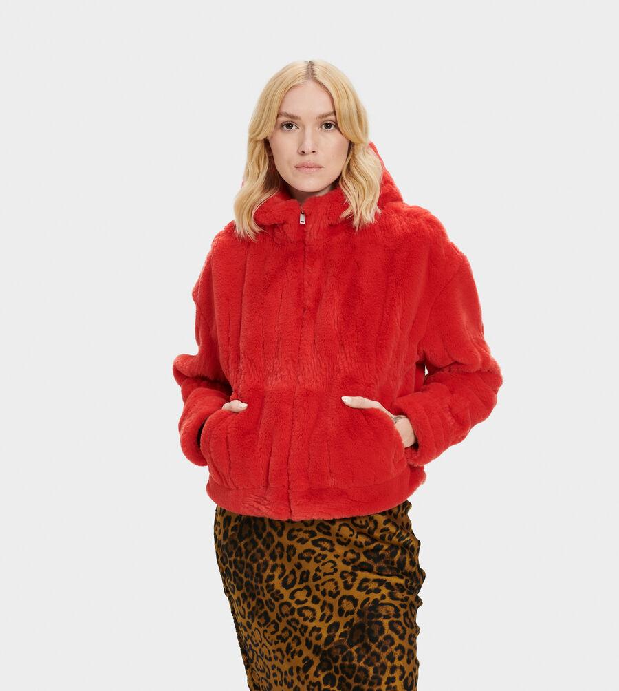 Mandy Faux Fur Hoodie - Image 1 of 5