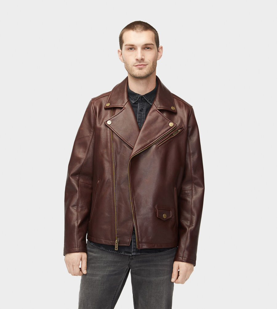 Vaughn Leather Moto Jacket - Image 1 of 6
