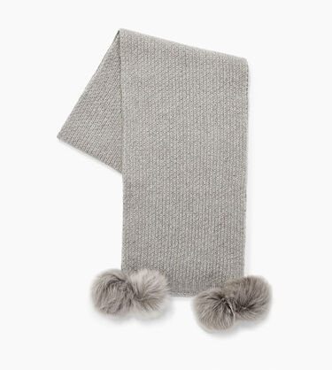 Aislinn Honeycomb Scarf W/ Pom Alternative View