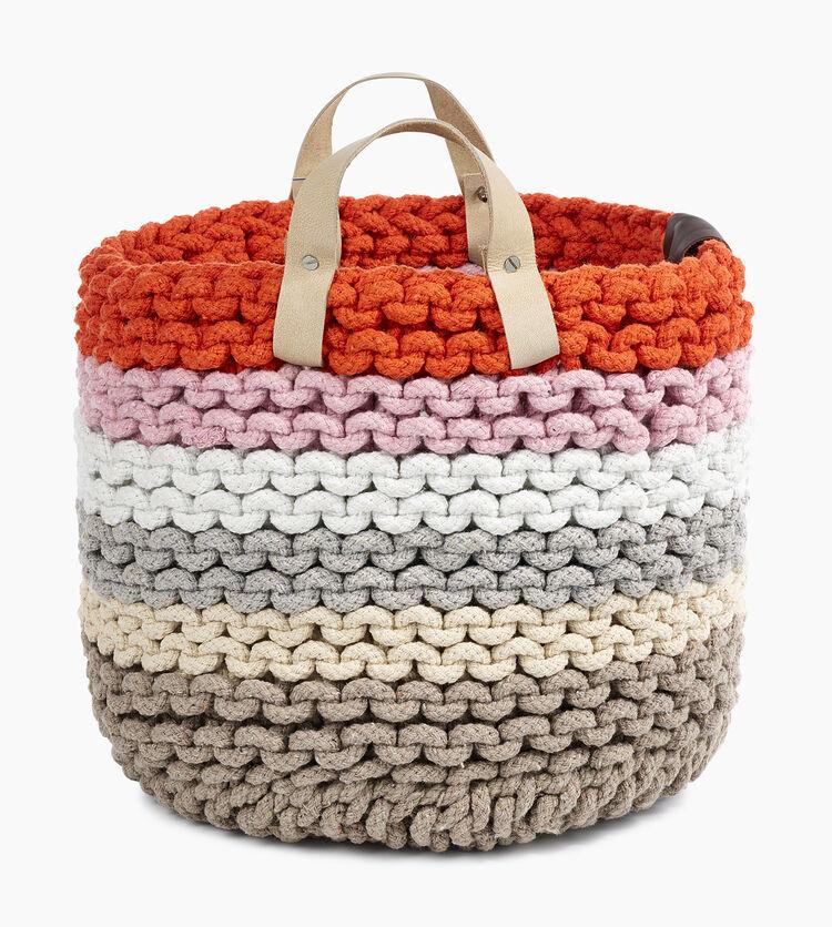 Rainbow Rope Nesting Basket