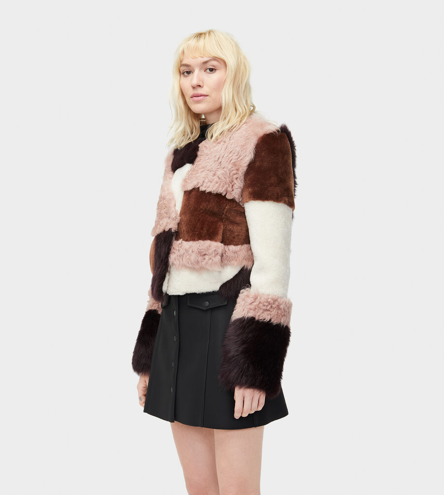 Hal Patchwork Short Fur Jacket - Image 1 of 4