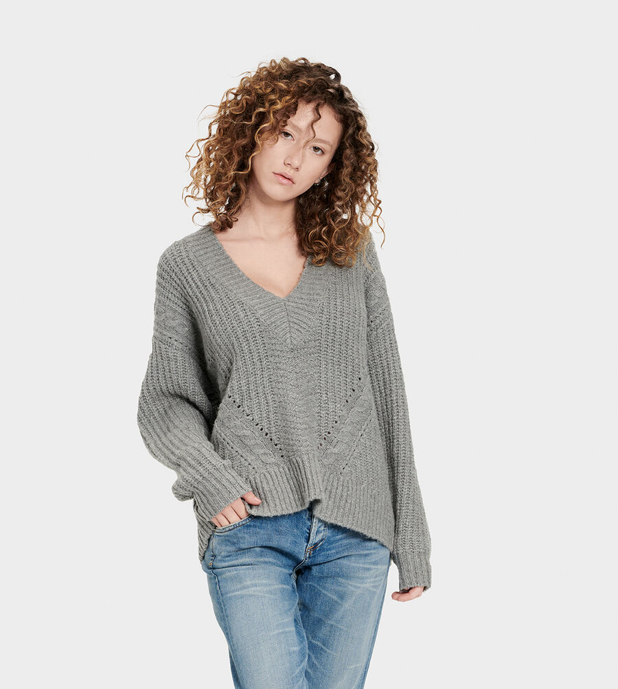 Alva Deep V-Neck Sweater - Image 1 of 6