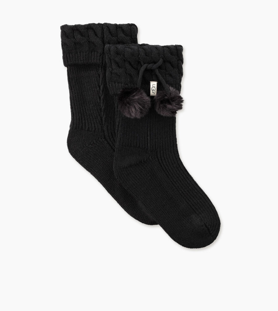 Pom Pom Short Rainboot Sock - Image 2 of 4