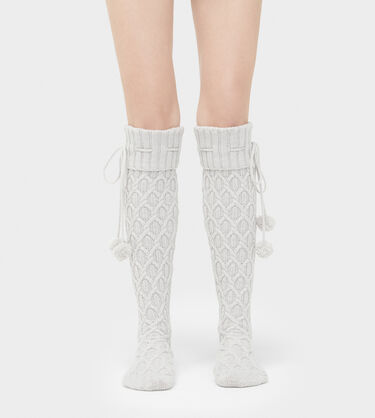 Sparkle Cable Knit Sock