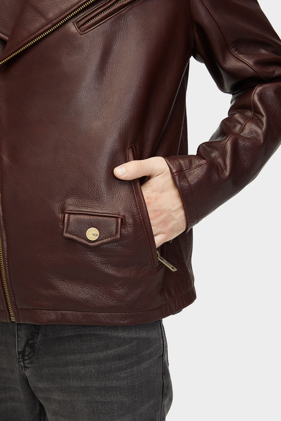 Vaughn Leather Moto Jacket - Image 4 of 6
