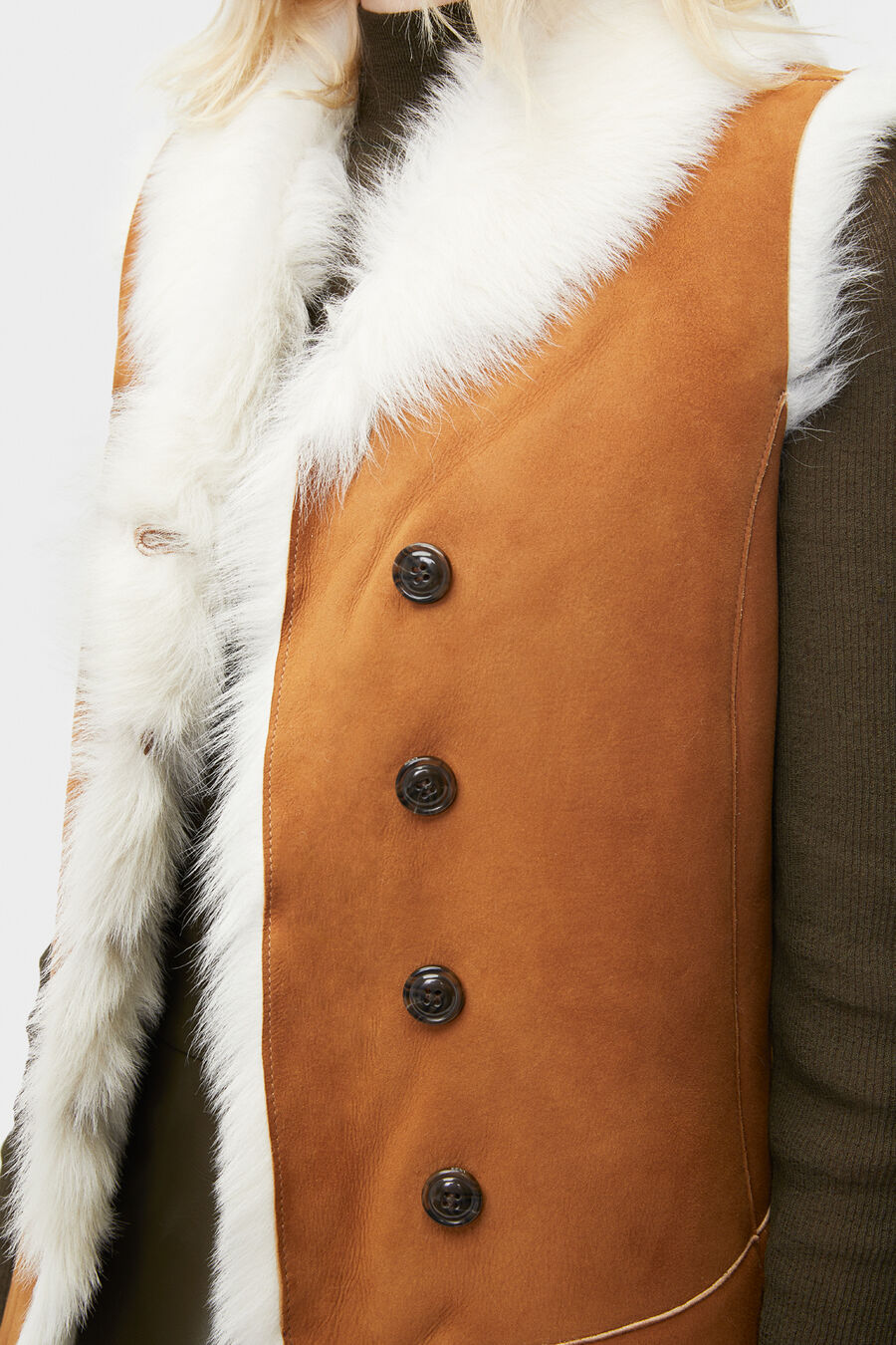 Renee Toscana Shearling Vest  - Image 3 of 5