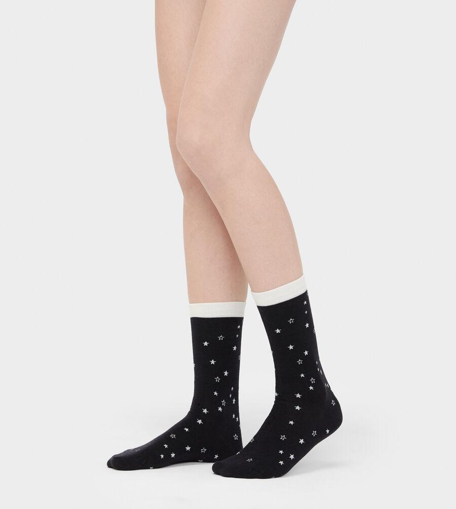 Merino Wool Star Crew Sock - Image 2 of 2