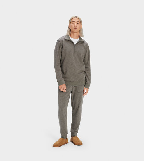 UGG Men's Hank Fleece Joggers Cotton Blend In Grey, Size S Pants Crafted from lightweight double-knit fleece, this cozy jogger pant is perfect for any season. Wear it with our Gordon hoodie for weekend lounging. UGG Men's Hank Fleece Joggers Cotton Blend In Grey, Size S Pants