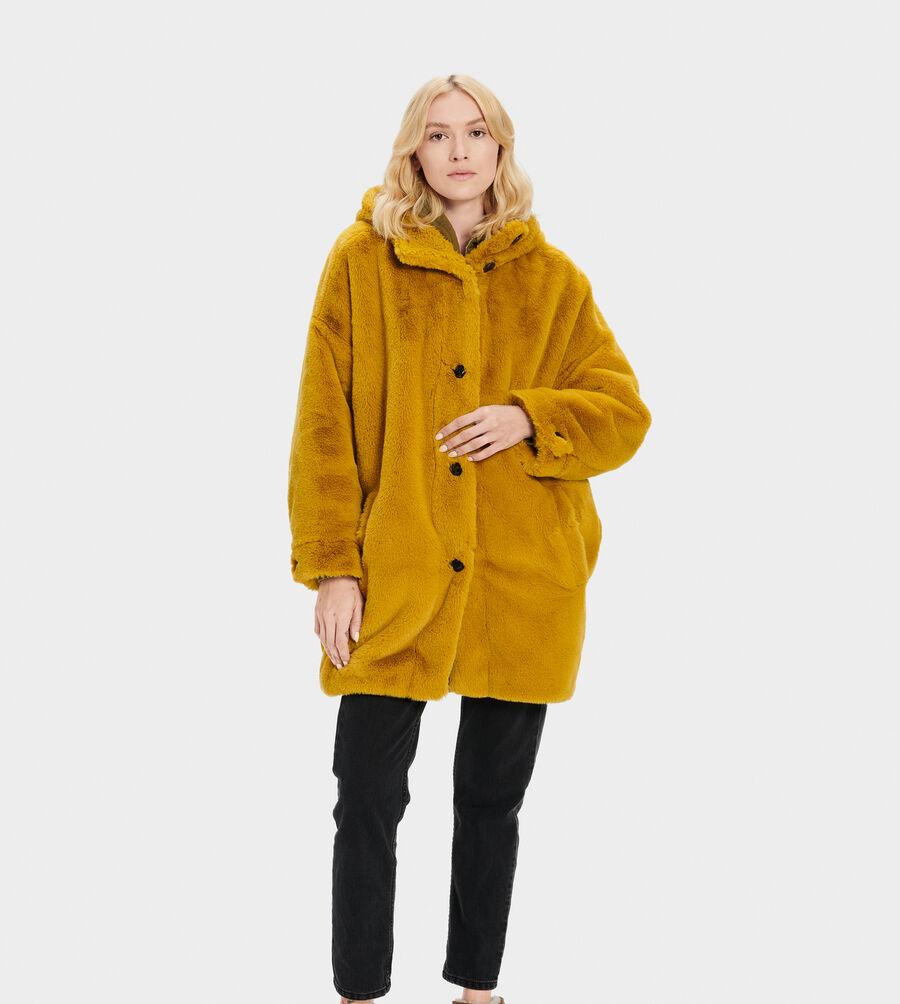 Nori Oversized Coat- Faux Fur - Image 2 of 4