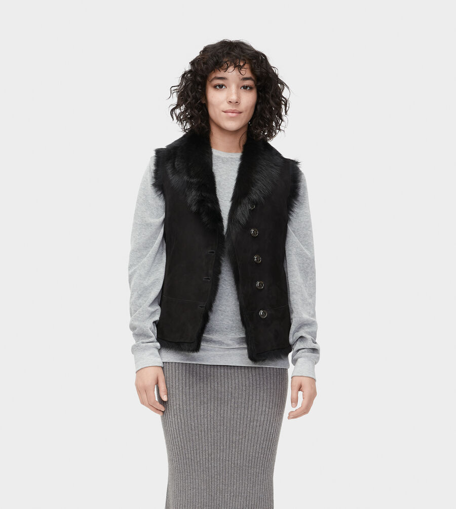 Renee Toscana Shearling Vest  - Image 1 of 6