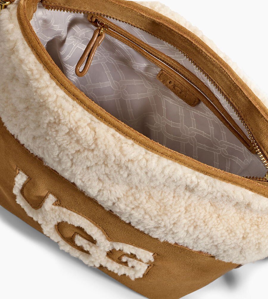 Libby Sheepskin Bucket Tote - Image 4 of 5