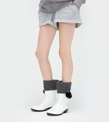 어그 UGG Pom Pom Short Rainboot Sock