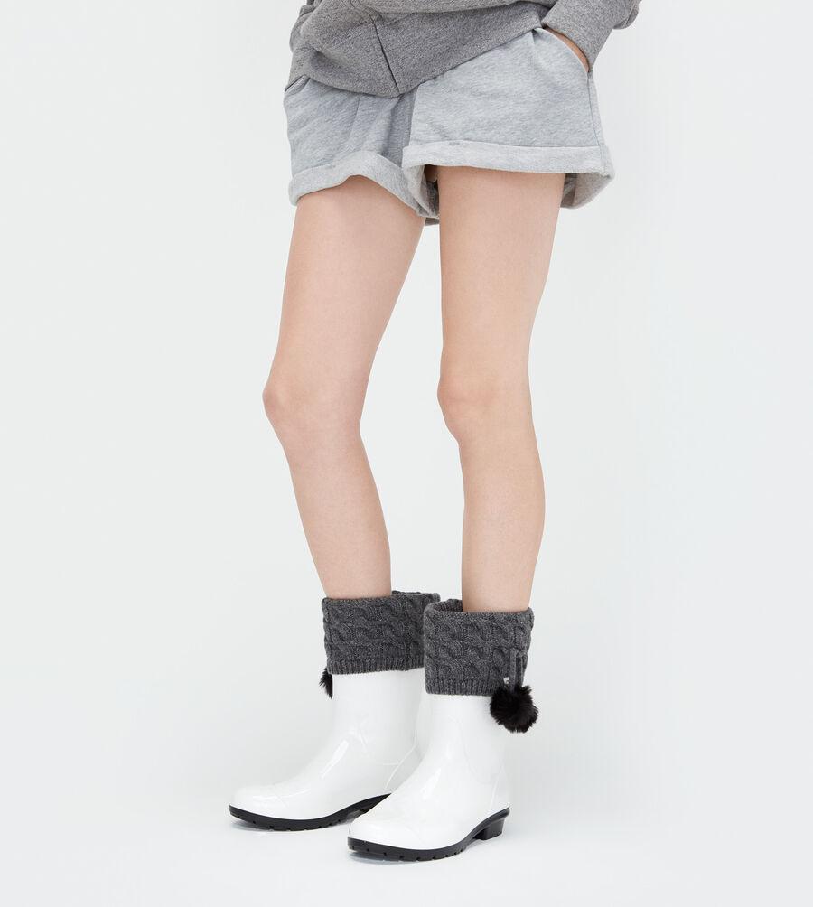 Pom Pom Short Rainboot Sock - Image 1 of 3