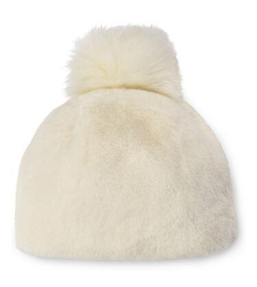 Faux Fur Beanie with Pom